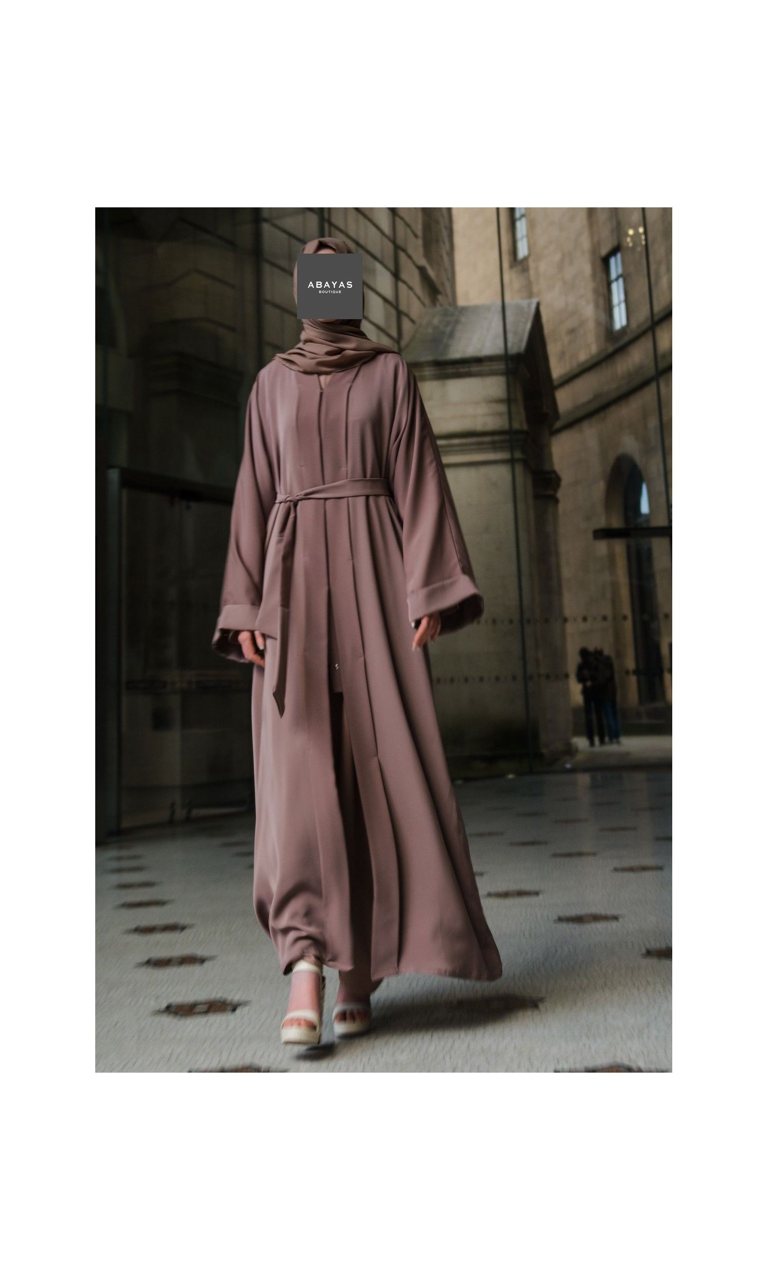 Flared Abaya with Inner Rope Belt