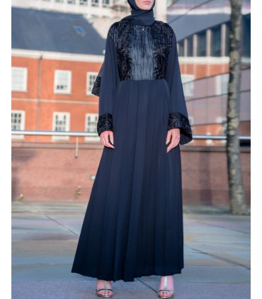 Pink Flared Abaya with Inner Rope Belt