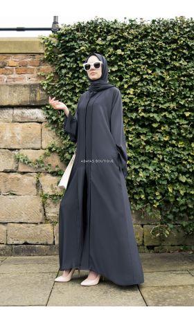 Luxe Abaya in Grey