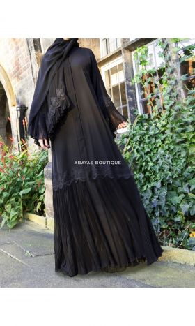 New Lavish Flutter Open Abaya