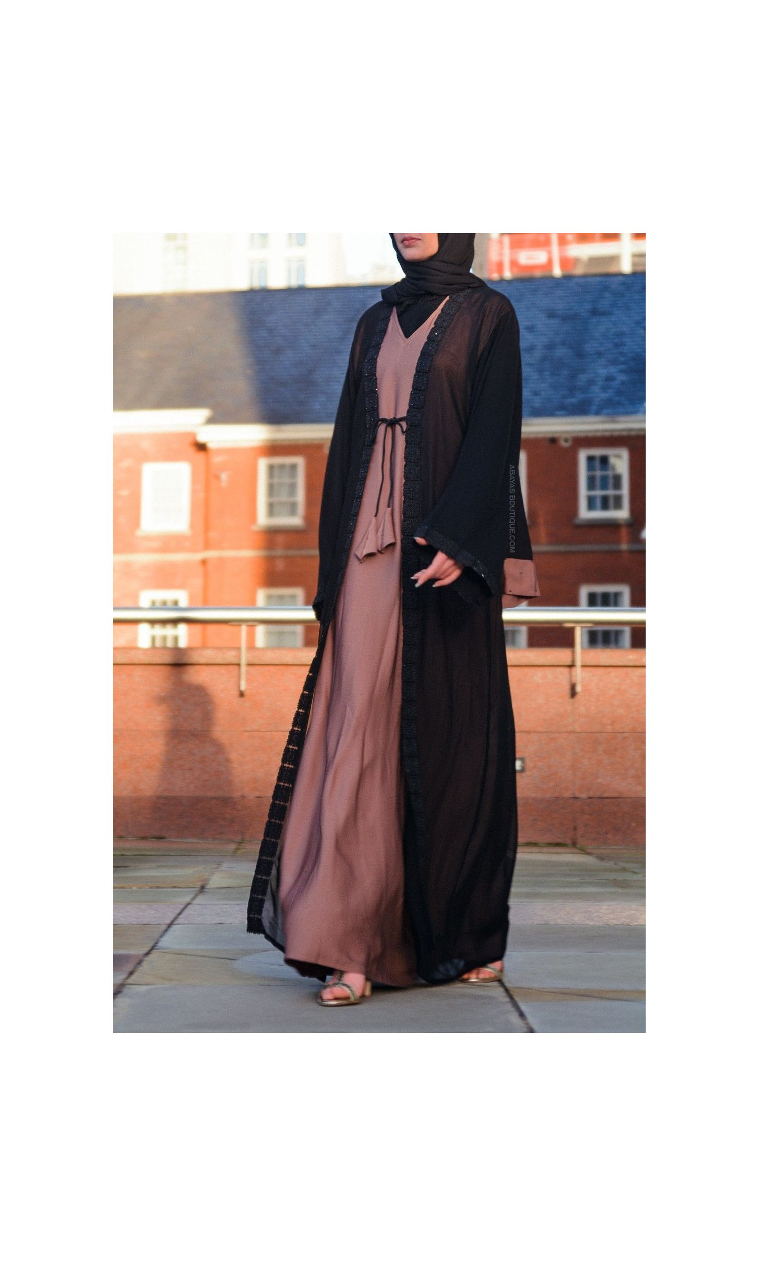 Wafra in Peals & Pleats Abaya