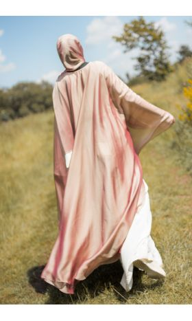 Rose-Gold Silk Cape Set