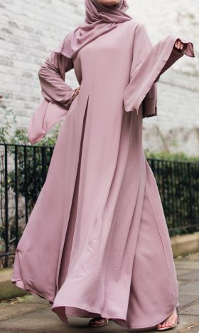 Cos Double Layer Pink Abaya