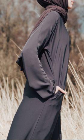 Casual Abaya Grey