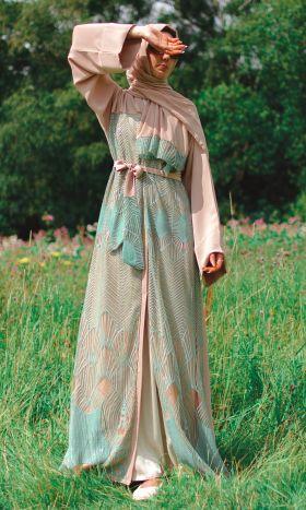 Lammeah Sequin-Embellished Abaya