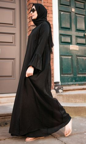 In Full Swing Smocked Abaya