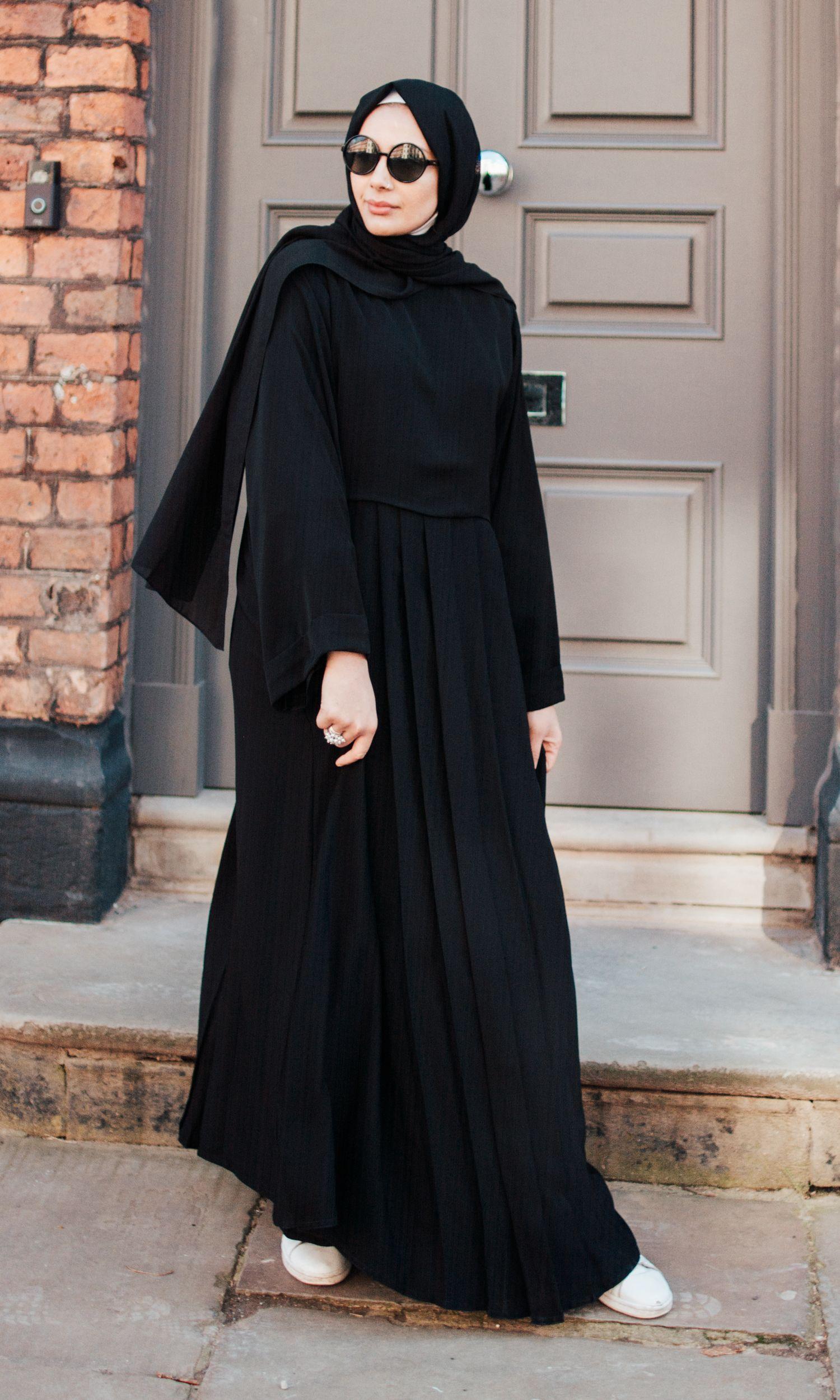 Cream Flared Abaya with Inner Rope Belt