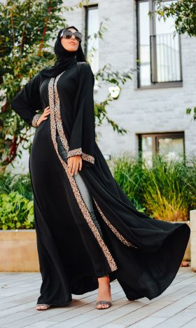 Ivy Lace Flared Open Abaya