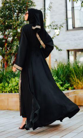 Ivy Lace Flared Open Abaya