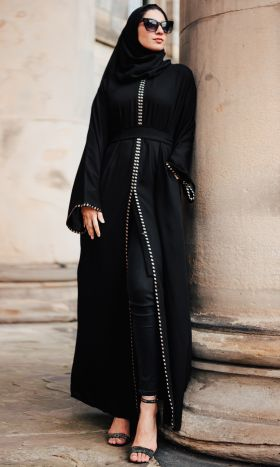 New Cleopatra Embroidered Open Abaya