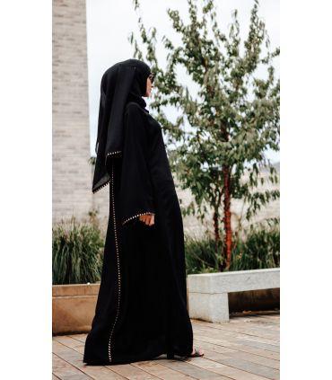 Barunz Raw Silk Open Abaya