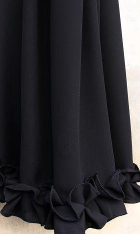 Ruffled Maxi Hijab Black Musk