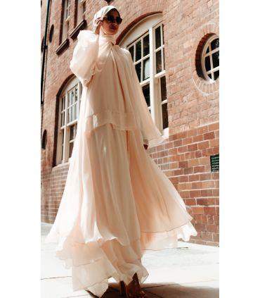 Fleurette Wool Open Abaya