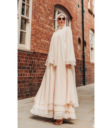 Caponata Raw Silk Open Abaya