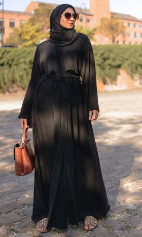 Faithful Tucked Open Abaya