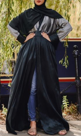 Esmeralda Colour-Block Open Abaya