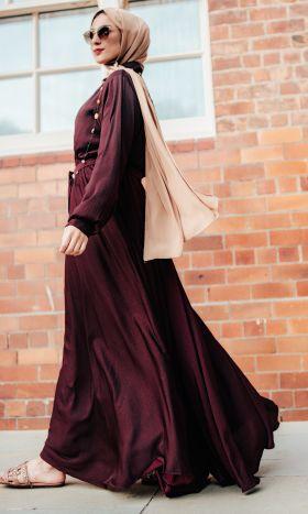 Sweet Maroon Fit & Flare Dress