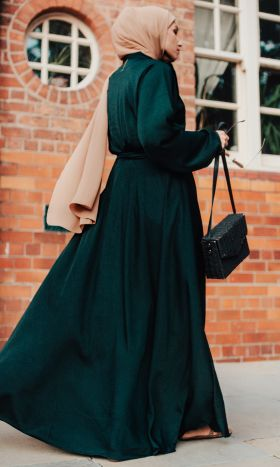 Sacramento Green Fit & Flare Dress