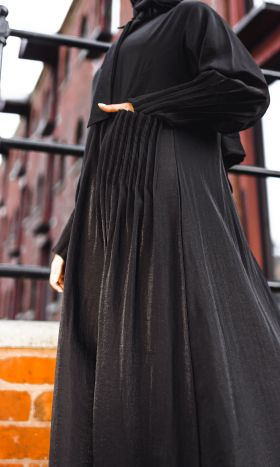 Mika Pleated-Pocket Shirt Abaya