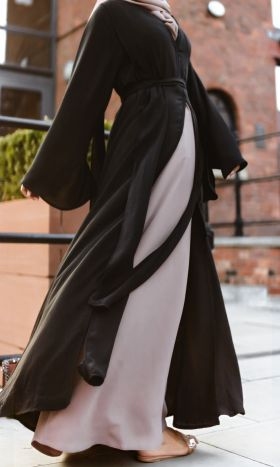 Elvira Draped Open Abaya