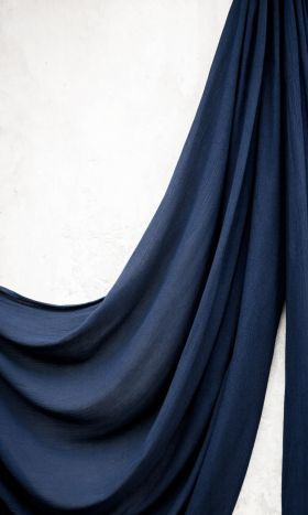 Rayon Crinkle Hijab French Navy