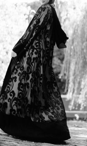 Leela Devoré Lined Kimono