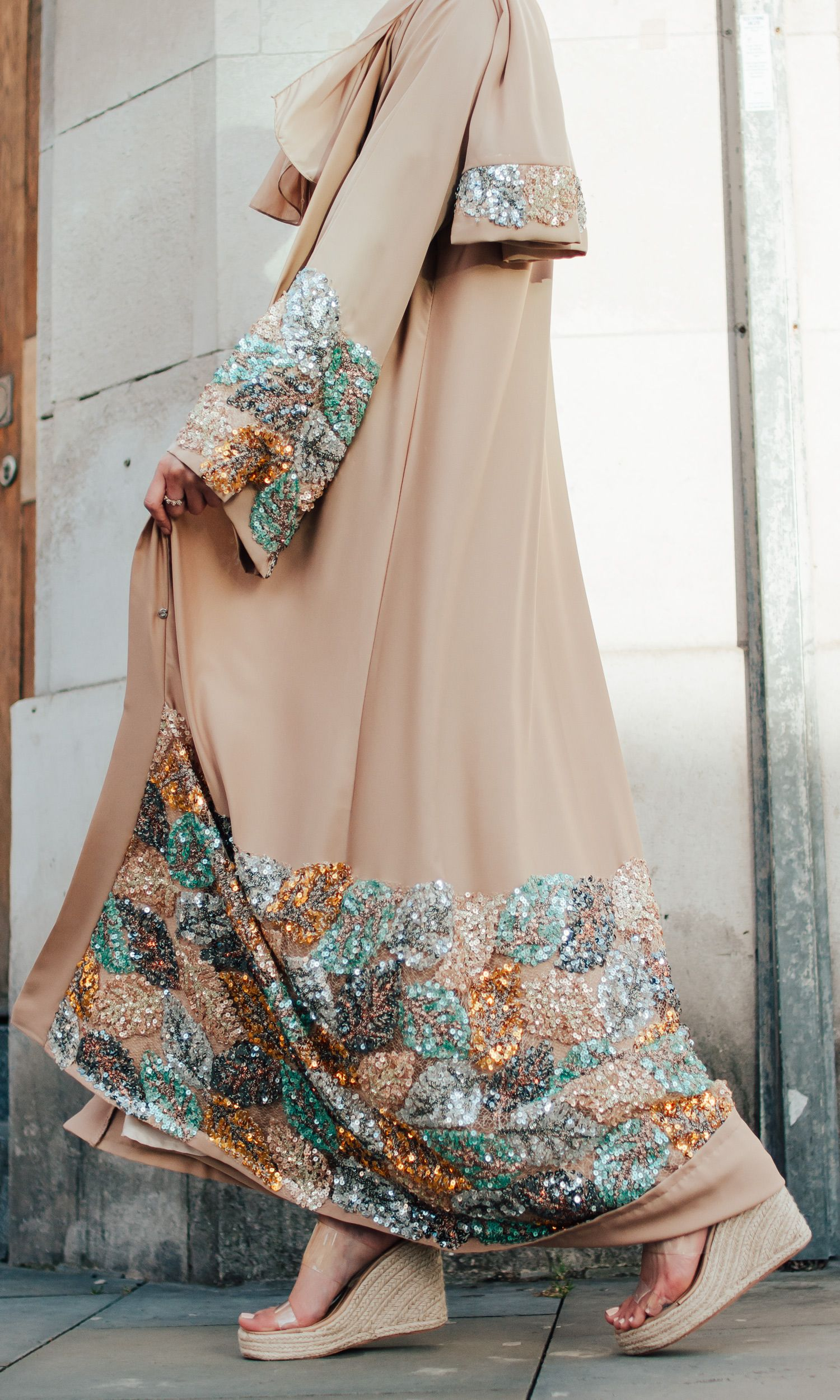 Contemporary Abaya Heather