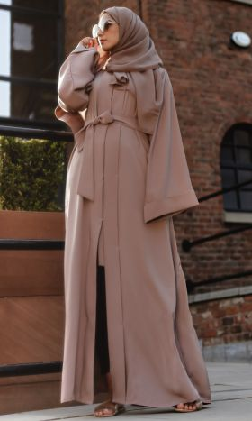 Luxe Abaya in Mauve
