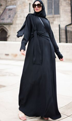 New Anneka Tie-front Abaya