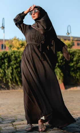 Chocolate Fit & Flare Dress