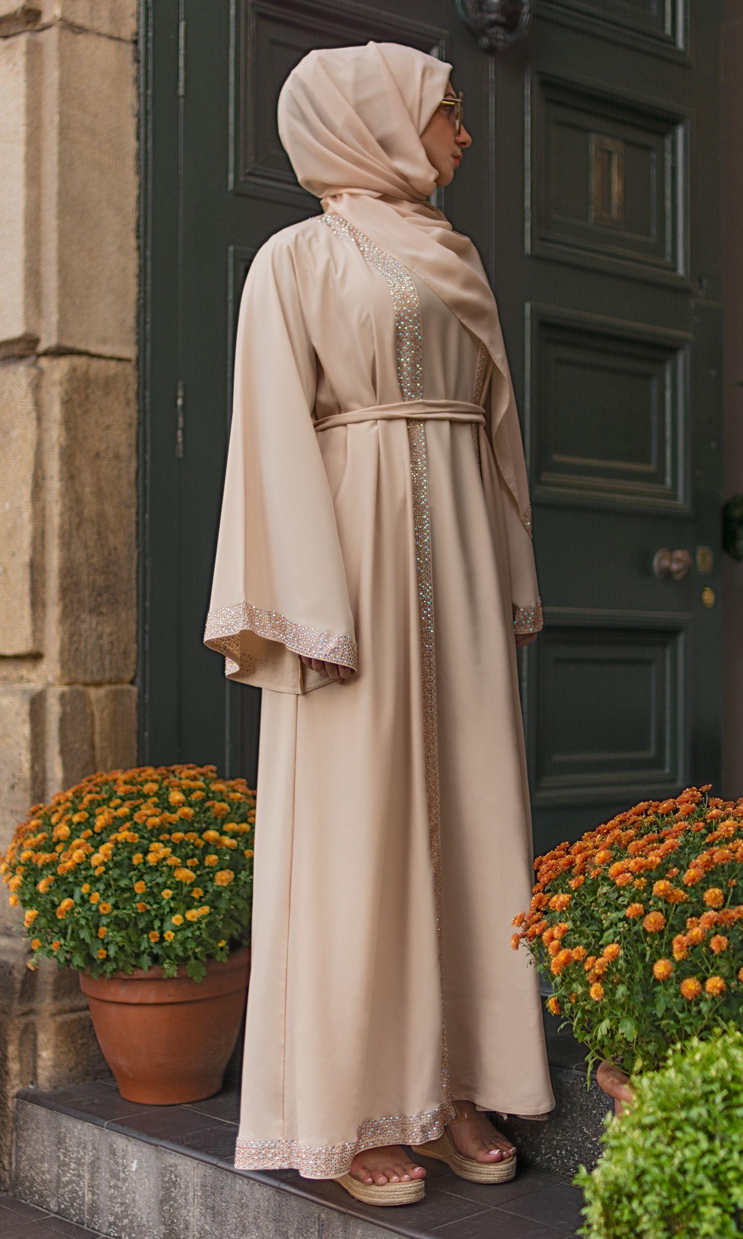 Huda Fil-coupé Cotton Kimono